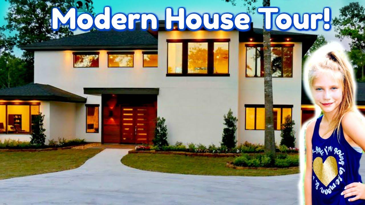 New Modern House Tour! $1,000,000 Custom House Tour for Kids, Family, Fun