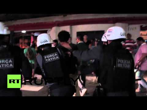 Brazil: Police detain 15 at anti-World Cup protest