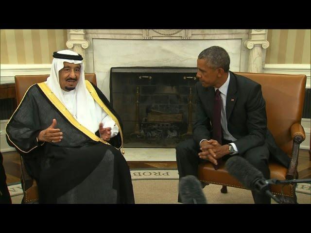 Obama, Saudi King put warm gloss over differences
