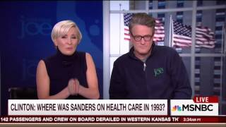 "Morning Joe Panel: Clinton Not ""Truthful"" On Bernie Sanders Healthcare Comments"