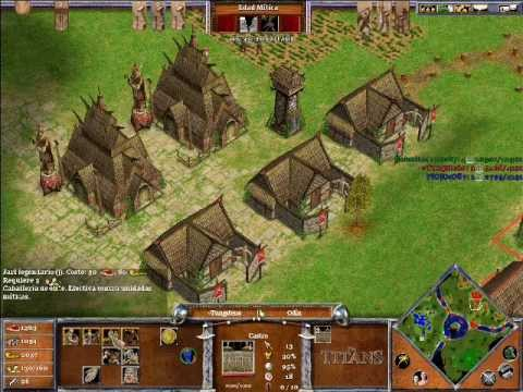 Age of Mythology The Titans ONLINE x Hamachi: Odin & Hades VS Ra (CPU Titan) - Parte 2/5