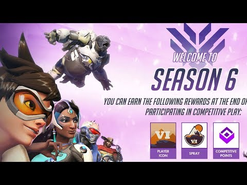 OVERWATCH SEASON 6 COMPETITIVE BEGINS! (dive meta still?)