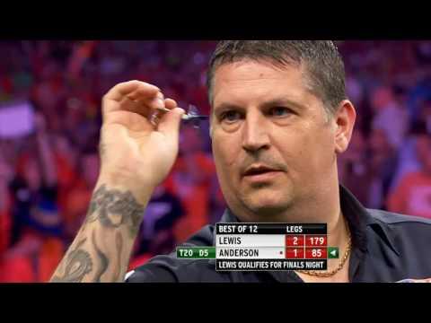 Premiere League darts week 15 Lewis vs Anderson