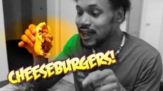 FIRST TIME MAKING CHEESEBURGERS | Cooking With Kenshin #3