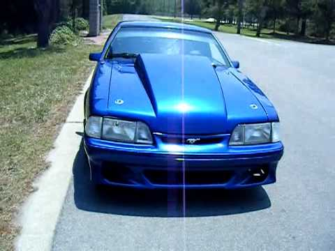 Lightning Blue Mustang >> mustang cobra 5.0 burnout - YouTube