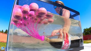Giant Mentos vs. Coke Under Water Experiment