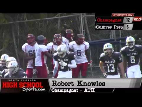 South Florida High School Football: Gulliver Prep 16 - Champagnat 12 (Spring Game)
