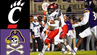 #17 Cincinnati vs East Carolina Highlights | NCAAF Week 10 | College Football Highlights