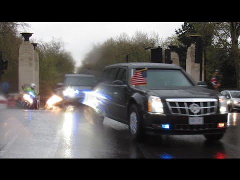 President Obama Armed Motorcade (Metropolitan Police & American Secret Service) - London, UK