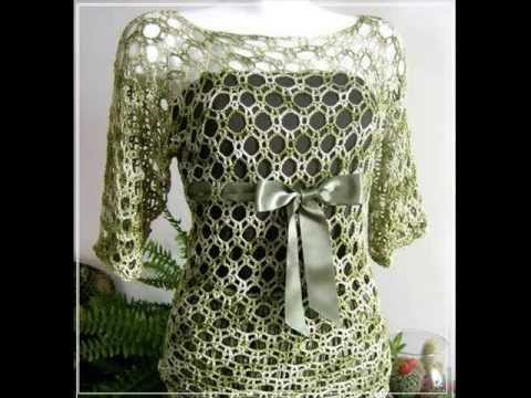 how to crochet tunic top pattern free - YouTube