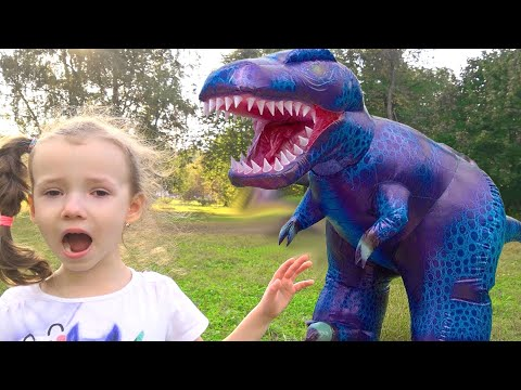 Ulya Magic Transform Her Toys in Giant Real Animals  Kids and Monkey video for kids