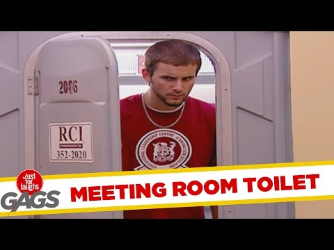 Public Toilet Turns Into Business Meeting - Throwback Thursday