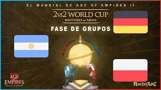 MUNDIAL AOE- ARGENTINA (Nicov+Twigg) BUSCA CLASIFICARSE A OCTAVOS DE FINAL!