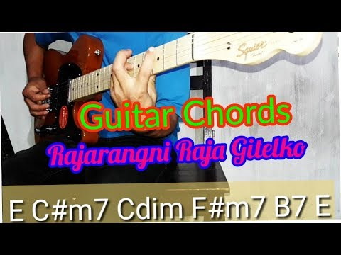 Rajarangni Raja Gitelko Guitar chords lesson