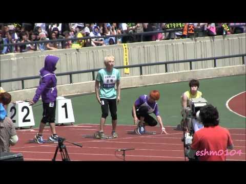 [Fancam]110827 Eunhyuk Idol Sport Competition 110m Hurdle preliminary