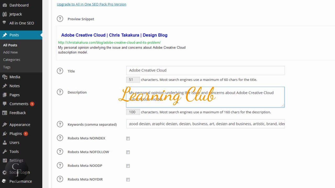 Как сделать мета теги на wordpress