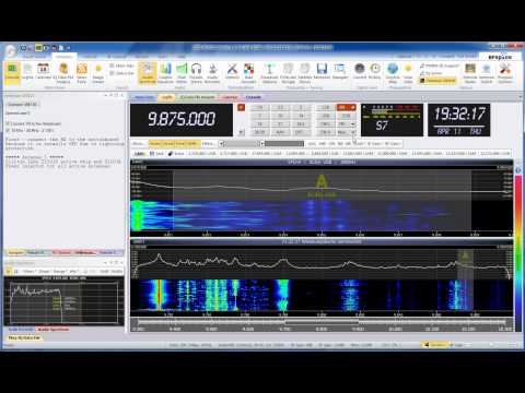 North Korea - Voice of Korea 9875 KHz SDR/Radio 2013-APR-11