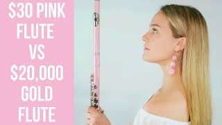 I bought a $30 pink flute from eBay in the name of ~aesthetics~   #flutelyfe with @katieflute
