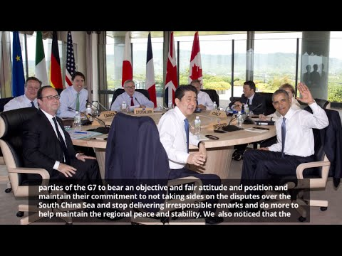 China dissatisfied with G7 statement on South China Sea