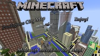 "Minecraft Awesome City Map! ""Prodigious City"" (Download)"