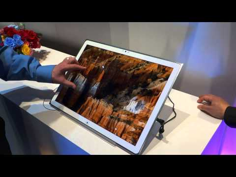 CES 2013: Panasonic 20 Zoll 4K Tablet Windows 8 (Full-HD)