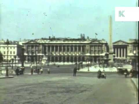 German Occupied Paris, France - Rare Colour WWII Home Movies Shot By German Soldier