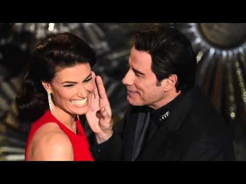 Oscars 2015: John Travolta Gets Creepy with Scarlett Johansson and Idina Menzel