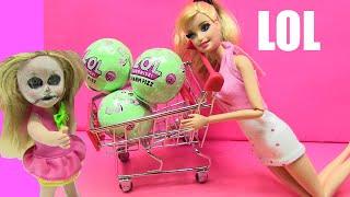 Búp Bê Barbie Và BÚP BÊ EM BÉ NA NA Tắm BANH LOL BANH SỦI BỌT LOL ĐỒ CHƠI  | Chị Bí Đỏ