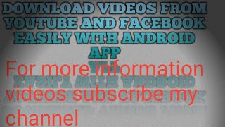 How to easily download videos from YouTube. Facebook. Tiktok. Whtsapp