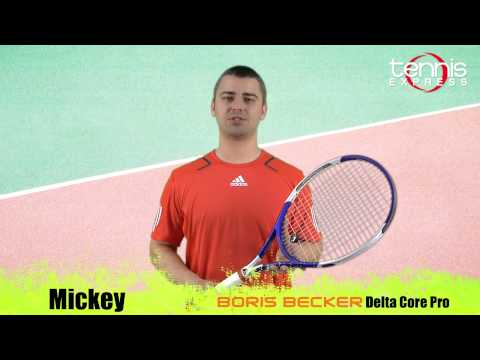 Boris ベッカー Delta Core Pro テニス Express Racquet Review