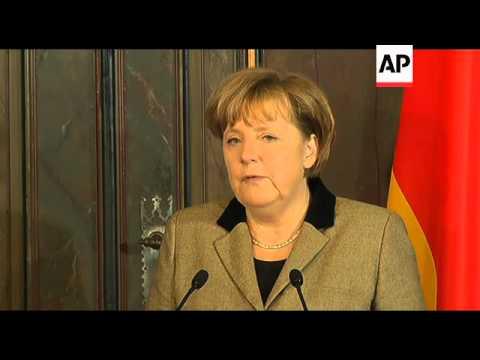 Angela Merkel meets head of Eurogroup Jean Claude Juncker