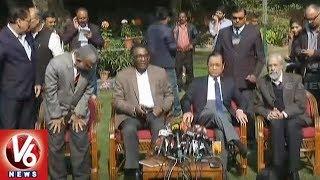 Chief Justice Deepak Mishra Meets Four Senior Most Supreme Court Judges  - netivaarthalu.com