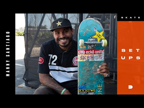 Setups: Manny Santiago Feather Weight Skateboard