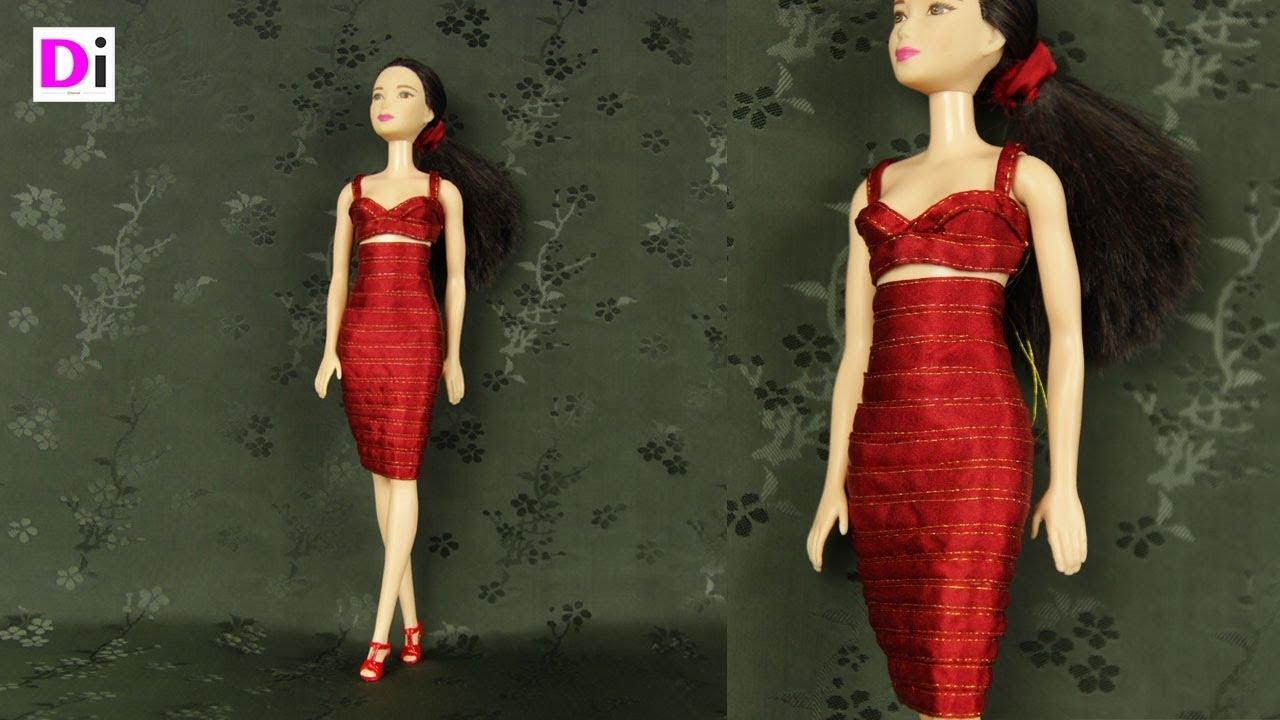 Как сшить платье для кукол барби без липучек 45