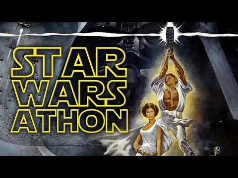 STAR WARS-ATHON (7 Movie Marathon Timelapse w/ RANKINGS, Flashback Order)