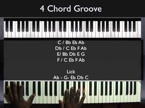 How to play a 4 Chord Groove  Piano Tutorial Music Videos