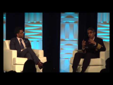 Surgeon General Vice Admiral Vivek Murthy and Dr. LaMar Hasbrouck Discussion