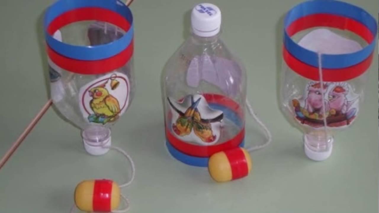 Поделки из пластиковой бутылки и киндер сюрприз