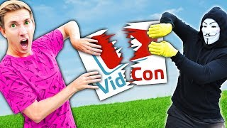 VIDCON IS HACKED! Hackers Control YouTubers for 24 Hour Challenge (Last to Stop Project Zorgo Wins)