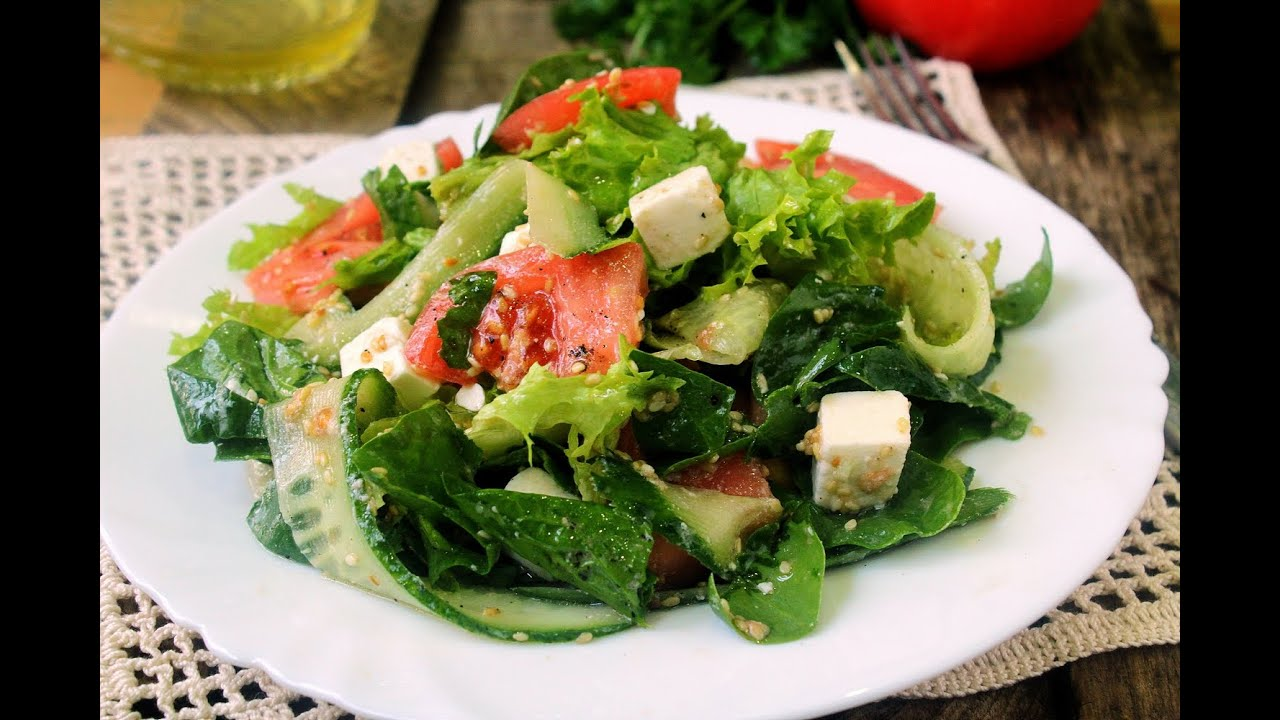 Салат из свежего шпината свежего рецепты с