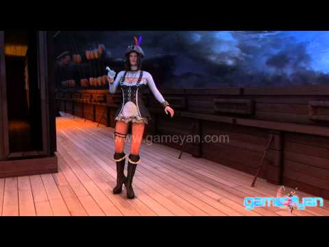 3D Pirate Female Girl Character Modeling and Animation  GameYan Studio