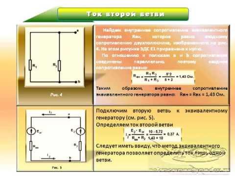 Электротехника. Метод эквивалентного генератора.