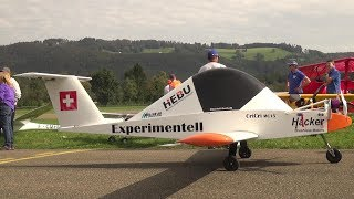 WORLD'S FIRST 1:1 FULL SCALE RC MODEL AIRPLANE COLOMBAN CRI-CRI MC-15