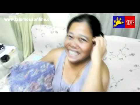 Filipina mom talking Greek in front of webcam funny video