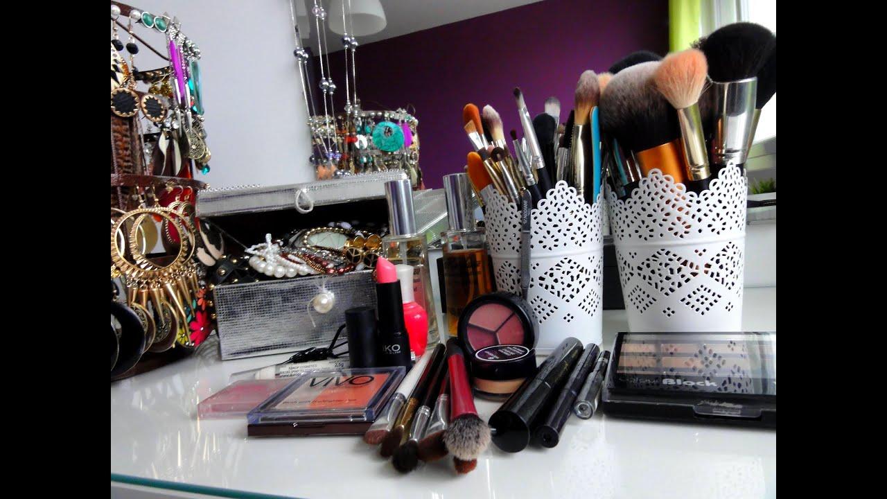 Vlog mon rangement maquillage youtube - Rangement maquillage commode ...
