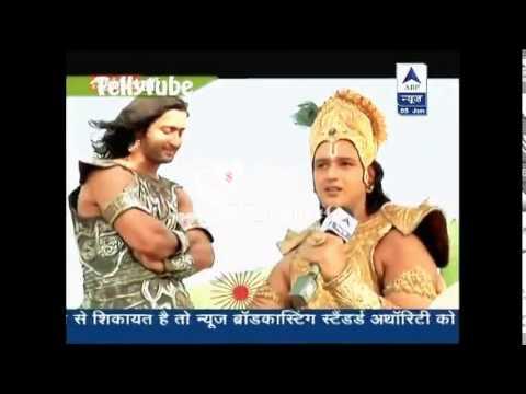 SBS segment #mahabharat saurabh raaj jain with shaheer sheikh...