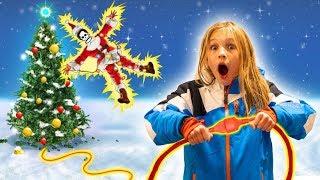 Amelia and Avelina saves Christmas adventure. Santa lost his presents!