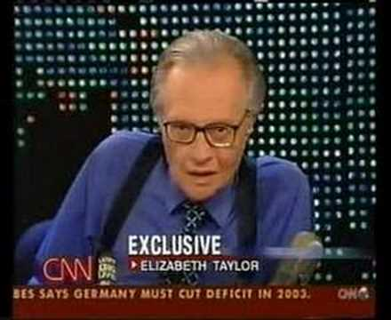 elizabeth taylor is asked about james dean on larry king Video
