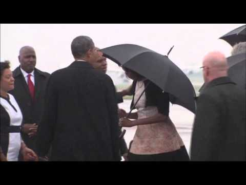 Raw: President Obama in South Africa