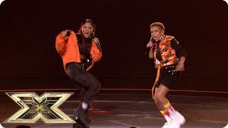 Acacia & Aaliyah sing Big For Your Boots/ Shutdown | Live Shows Week 6 | X Factor UK 2018